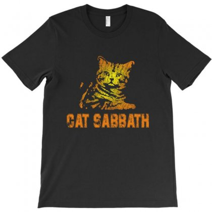 Cat Sabbath T-shirt Designed By Vanode Art