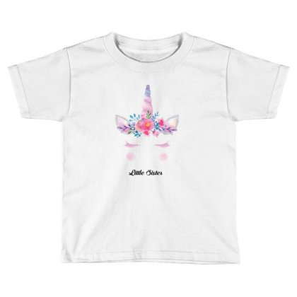 Little Sister Unicorn Toddler T-shirt Designed By Sabriacar