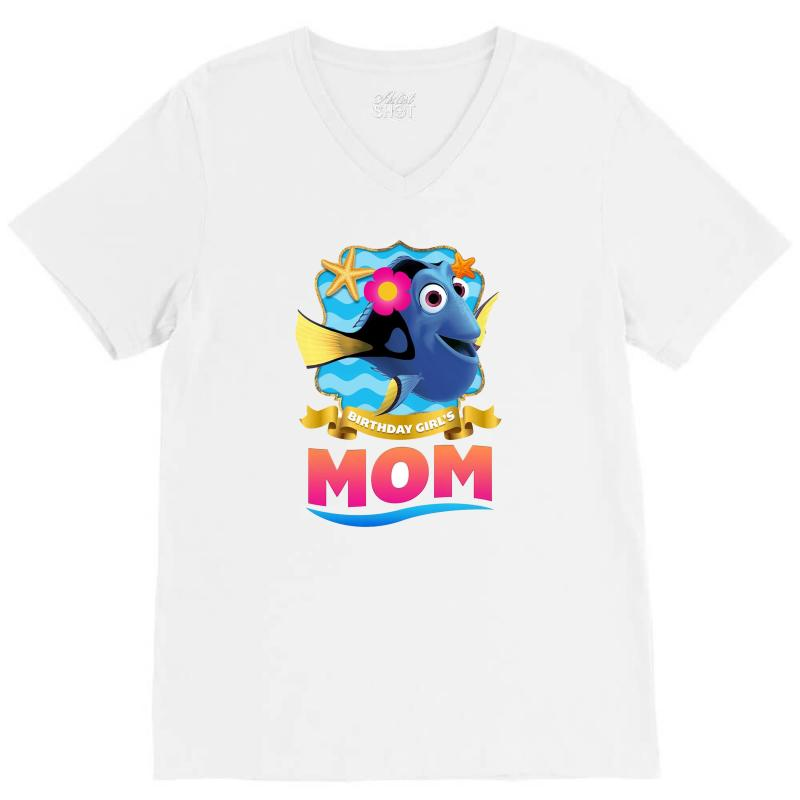Birthday Girls Mom V Neck Tee