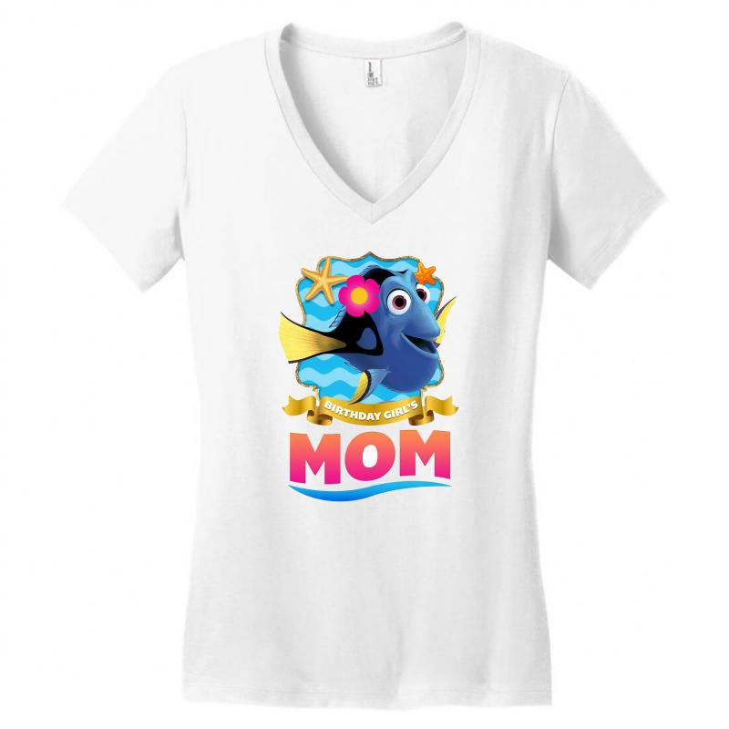 Birthday Girls Mom Womens V Neck T Shirt
