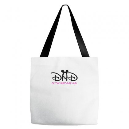 Dad Of The Birthday Girl Tote Bags Designed By Sabriacar