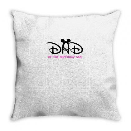 Dad Of The Birthday Girl Throw Pillow Designed By Sabriacar