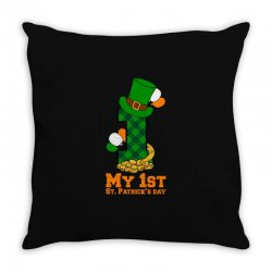My First St Patrick's Day For Dark Throw Pillow Designed By Zeynepu