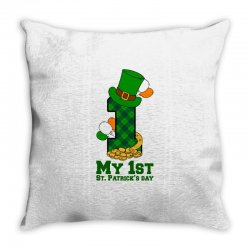 My First St Patrick's Day For Light Throw Pillow Designed By Zeynepu