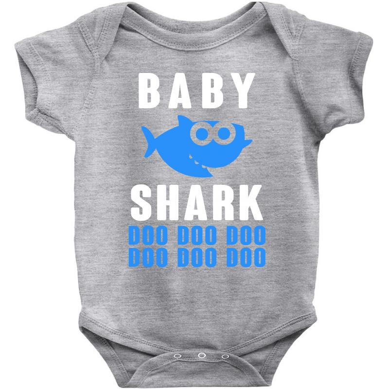 281c85a8c Custom Baby Shark Doo Doo Boy For Dark Baby Bodysuit By Sengul ...