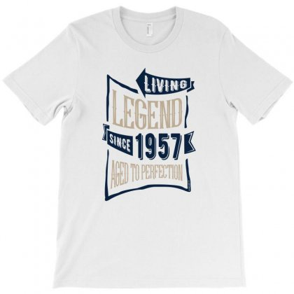 Living Legend Since 1957 Aged To Perfection T-shirt Designed By Chris Ceconello