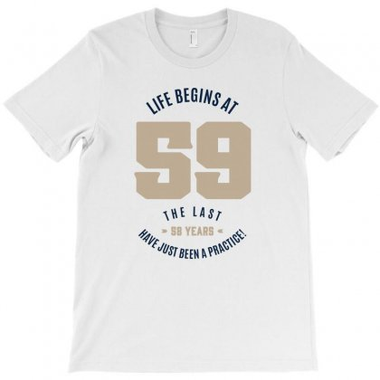 Life Begins At 56 T-shirt Designed By Chris Ceconello