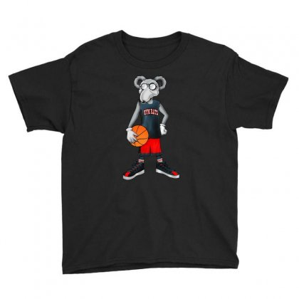 Gym Rat Basketball Male Youth Tee Designed By Slalomalt