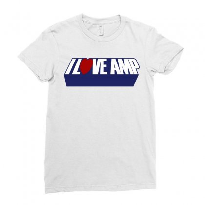 I Love Party Amp Ladies Fitted T-shirt Designed By Slalomalt