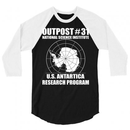 Outpost 31 Us Antarctica Research Program 3/4 Sleeve Shirt Designed By Slalomalt