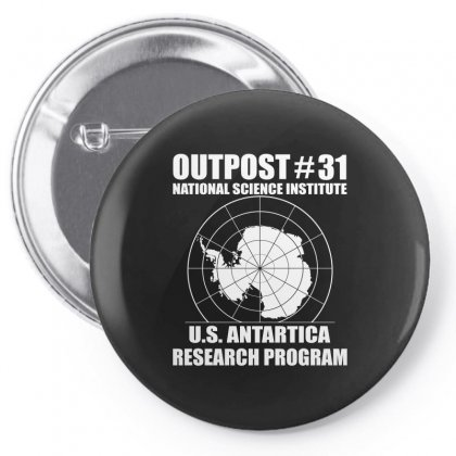 Outpost 31 Us Antarctica Research Program Pin-back Button Designed By Slalomalt