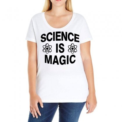 Science Is Magic Ladies Curvy T-shirt Designed By Hot Design