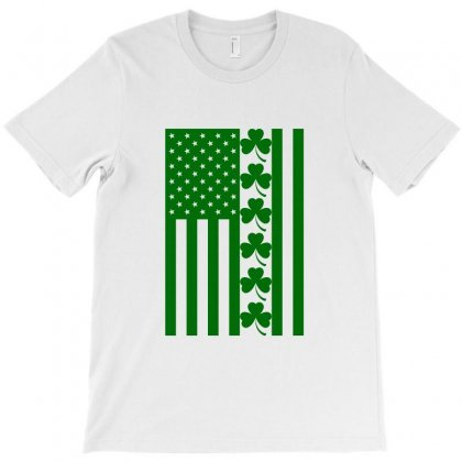 St Patrick's Day American Flag For Light T-shirt Designed By Nurbetulk