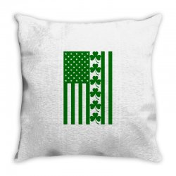 St Patrick's Day American Flag For Light Throw Pillow Designed By Zeynepu
