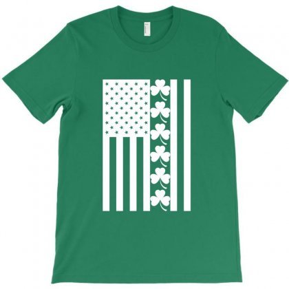 St Patrick's Day American Flag For Dark T-shirt Designed By Nurbetulk