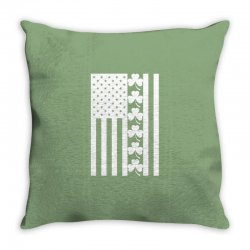 St Patrick's Day American Flag For Dark Throw Pillow Designed By Zeynepu
