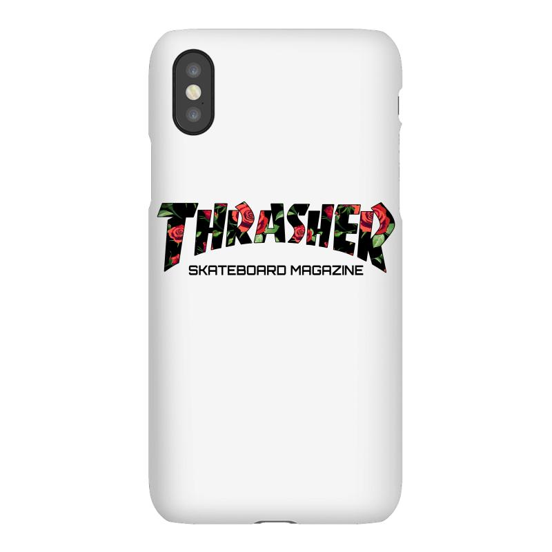 reputable site aad10 7e4cb Thrasher Skateboard Magazine With Roses Iphonex Case. By Artistshot