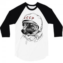 CCCP - Laika the Space Dogs 3/4 Sleeve Shirt | Artistshot