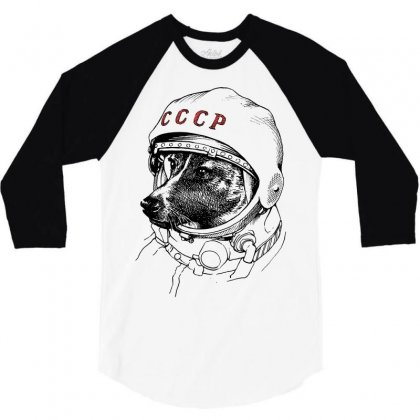 Cccp - Laika The Space Dogs 3/4 Sleeve Shirt Designed By Vr46