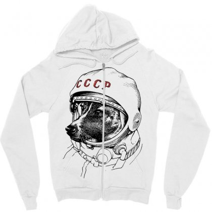 Cccp - Laika The Space Dogs Zipper Hoodie Designed By Vr46