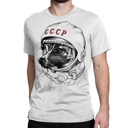 Cccp - Laika The Space Dogs Classic T-shirt Designed By Vr46