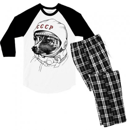 Cccp - Laika The Space Dogs Men's 3/4 Sleeve Pajama Set Designed By Vr46