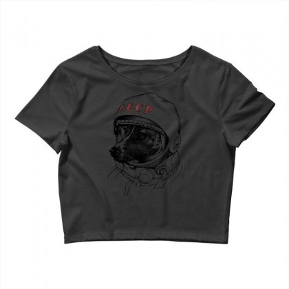 Cccp - Laika The Space Dogs Crop Top Designed By Vr46
