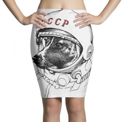Cccp - Laika The Space Dogs Pencil Skirts Designed By Vr46