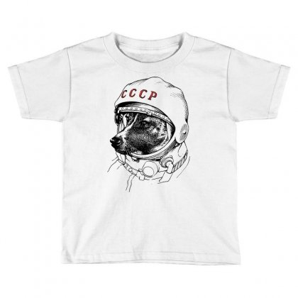 Cccp - Laika The Space Dogs Toddler T-shirt Designed By Vr46