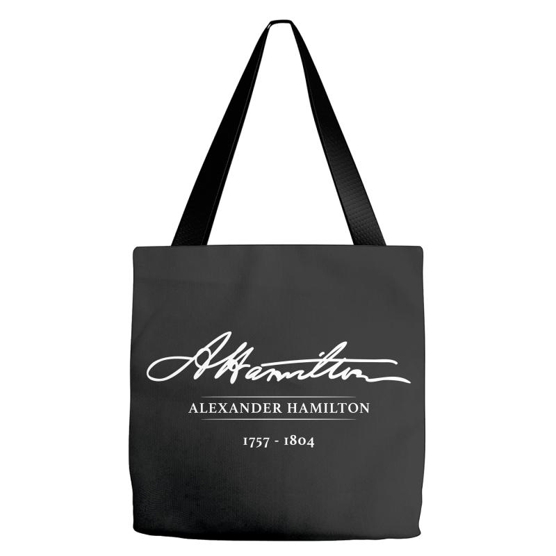88a84485895d Custom Alexander Hamilton With Signature Tote Bags By ...