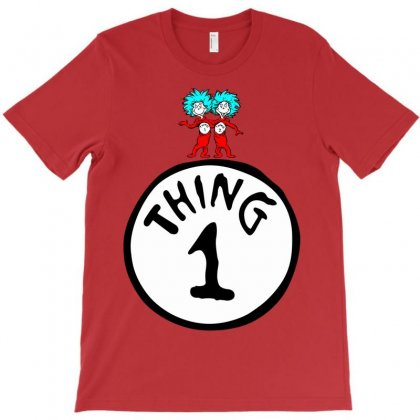 Thing 1 And Dr Seuss T-shirt Designed By Designbysebastian