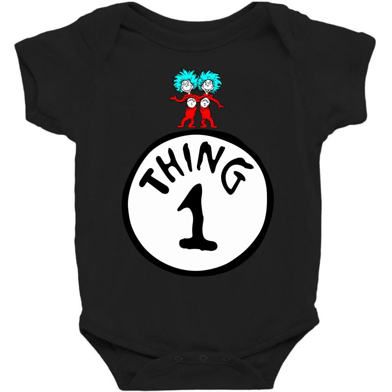 Custom Thing 1 And Dr Seuss Baby Bodysuit By Designbysebastian