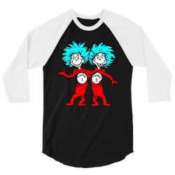Thing and Dr Seuss 3/4 Sleeve Shirt | Artistshot