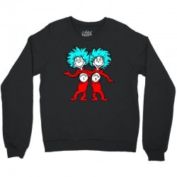 Thing and Dr Seuss Crewneck Sweatshirt | Artistshot