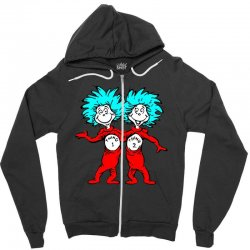 Thing and Dr Seuss Zipper Hoodie | Artistshot