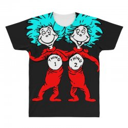 Thing and Dr Seuss All Over Men's T-shirt | Artistshot