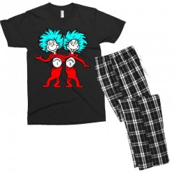 Thing and Dr Seuss Men's T-shirt Pajama Set | Artistshot