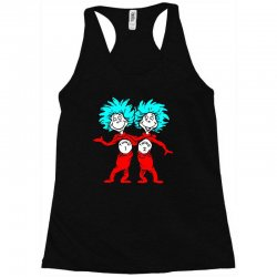 Thing and Dr Seuss Racerback Tank | Artistshot