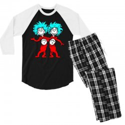 Thing and Dr Seuss Men's 3/4 Sleeve Pajama Set | Artistshot