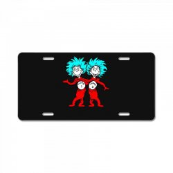 Thing and Dr Seuss License Plate | Artistshot