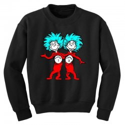 Thing and Dr Seuss Youth Sweatshirt | Artistshot
