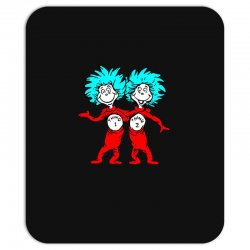 Thing and Dr Seuss Mousepad | Artistshot