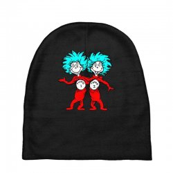 Thing and Dr Seuss Baby Beanies | Artistshot