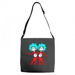 Thing and Dr Seuss Adjustable Strap Totes | Artistshot