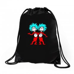 Thing and Dr Seuss Drawstring Bags | Artistshot