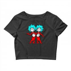 Thing and Dr Seuss Crop Top | Artistshot