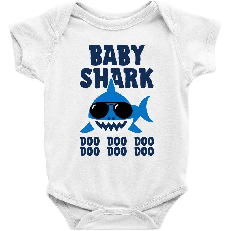 3d895cf31 Custom Baby Shark Doo Doo Doo Boy For Light Baby Bodysuit By ...
