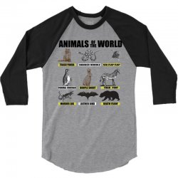 animals of the world 3/4 Sleeve Shirt | Artistshot