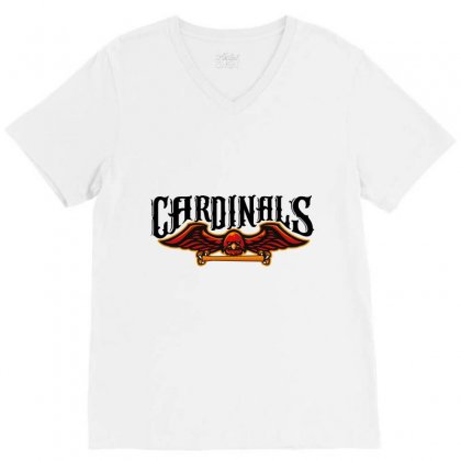 Cardinals V-neck Tee Designed By Wizarts