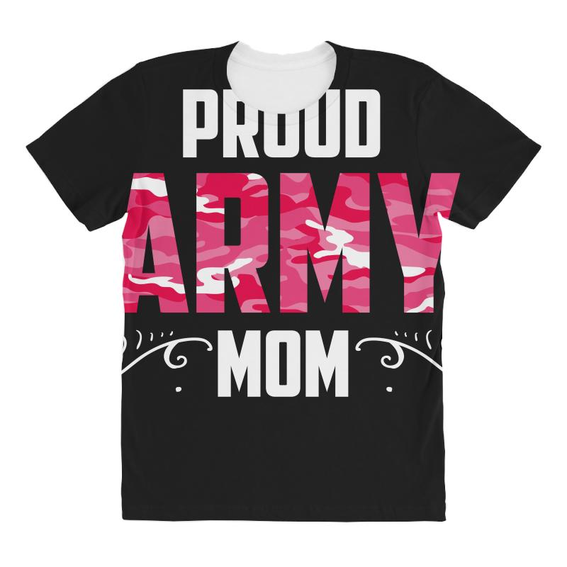 34e17700 Custom Army Mom All Over Women's T-shirt By Wizarts - Artistshot